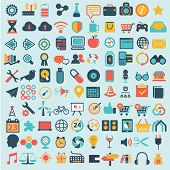 Flat icons design modern set