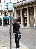Bus stop in Paris