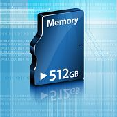Abstract Computer Memory On Abstract Computer Background