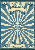 Blue circus retro. A blue vintage circus background for a poster