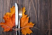 Autumn Leaves, Knife And Fork