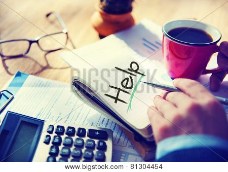 Business Help Support Office Stratery Working Concept