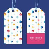 Vector abstract hanging jewels striped vertical stripe frame pattern tags set
