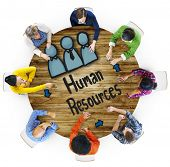Aerial View People Career Plan Human Resources Concepts