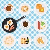 vector set of breakfast food