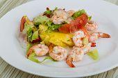 Shrimps With Aloe Vera Salad