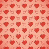 stock photo of avow  - Lovely heart romantic pattern - JPG
