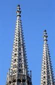VIENNA, AUSTRIA - OCTOBER 10: Votiv Kirche (The Votive Church). It is a neo-Gothic church in Vienna, Austria on October 10, 2014