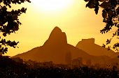 Rio de Janeiro Mountains by Sunset