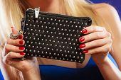 Evening Handbag In Woman Hand