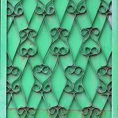ornamental wrought iron green wall grunge fabric abstract textur