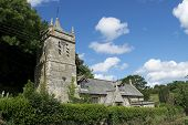 stock photo of church-of-england  - 2014 OLD CHURCH ENGLAND WEST COUNTRY CORNWALL - JPG