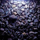 Purple stones gravel texture
