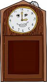 image of nursery rhyme  - Happy face on antique clock with mouse on top - JPG