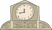 Mantle Clock Over White