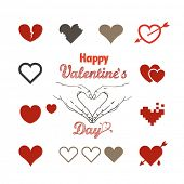 Valentine greeting card with hearts
