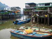 Fishing Village in Asia