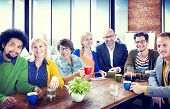 Group of People Cheerful Team Study Group Diversity Concept