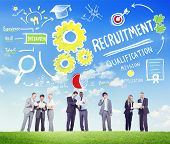 Ethnicity People Recruitment Digital Divices Searching Concept