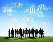 Global Business People Togetherness Creativity Ideas Concept