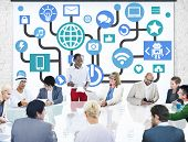 Global Communications Social Networking Business Meeting Online Concept