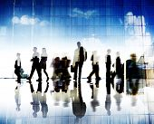 Business People Travel Walking Corporate City Concept