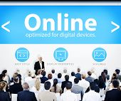 Business People Online Presentation Concept