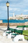 stock photo of el morro castle  - The castle of El Morro - JPG