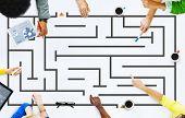 Maze Puzzle Test Strategy Concept