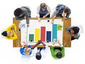 Bar Graph Business Growth Success Concept