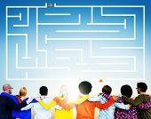 Maze Puzzle Direction Challenge Concept