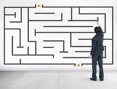 Maze Challenge Direction Concept