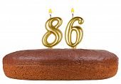 Birthday Cake Candles Number 86 Isolated