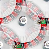 pic of roulette table  - abstract seamless texture and the American roulette casino - JPG