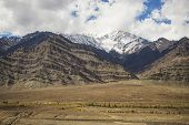 snow mountain range on the way to Hemis monastery from Leh Ladakh ,india
