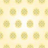 Seamless Texture Easter Eggs Vintage Easter Background Vector