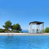 seaside swimming pool