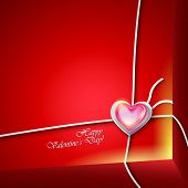 Valentines day background with parcel.