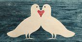 love dove pigeon bird paper cut silhouette vintage