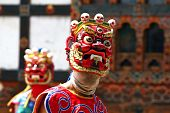 Masked dancers in Bhutan