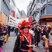 Cologne,North Rhine-March 3 : more than one million spectators on the streets.Carnival parade on March 3, 2014 in Cologne,Germany.