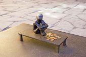 Stockholm. Sweden. Iron Boy Sculpture