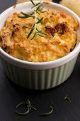Dish Of Potato Souffle With Rosemary