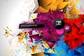 pic of geometric shapes  - Abstract modern poligonal background for brochure and covers - JPG