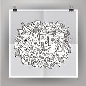 Art hand lettering and doodles elements