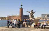 Stockholm. Sweden. Evert Taube monument