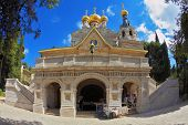 picture of church mary magdalene  - Mount of Olives in Jerusalem - JPG