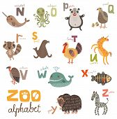 pic of cute frog  - Bright Alphabet set letters with cute animals - JPG