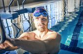 Portrait Of A Fit Swimmer