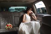 Bride Looking In The Window
